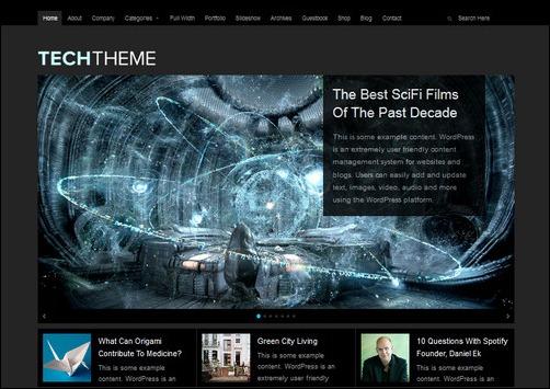 tech wordpress gaming themes