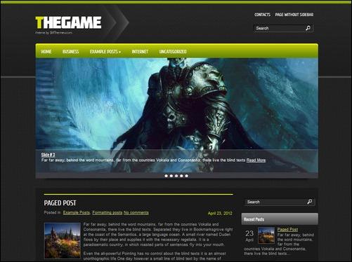 thegame wordpress gaming themes
