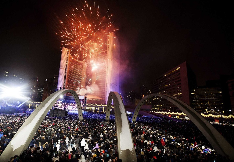 toronto new year fireworks 2013
