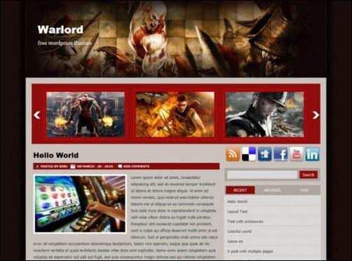 warlord wordpress gaming themes