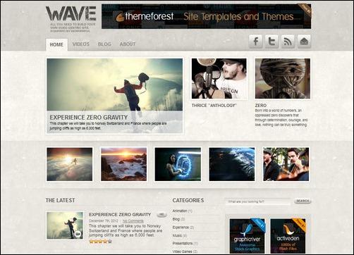 wave wordpress gaming themes
