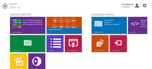 BootMetro - Windows 8 MetroUI style