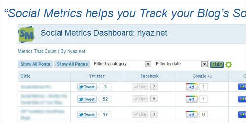 WordPress Plugin - Social Metrics