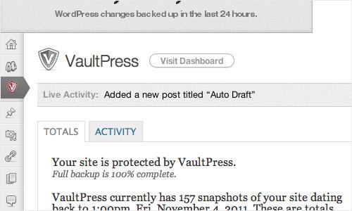 WordPress Plugin - VaultPress
