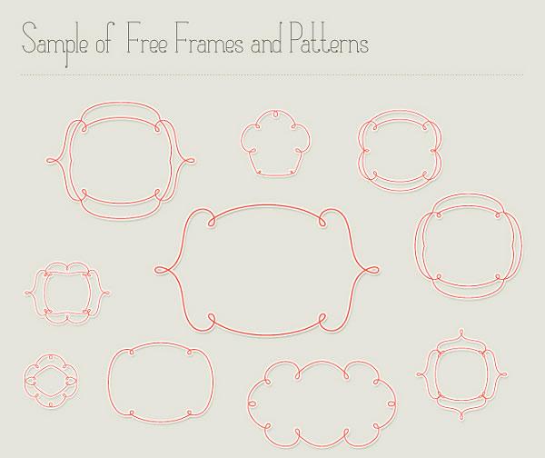 Matilde Frames & Free Font Pack