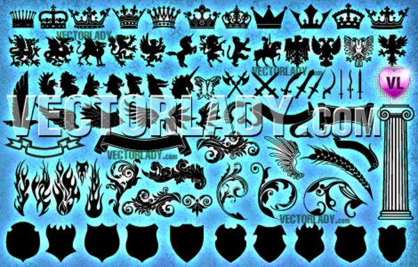 Vector Heraldic Clipart