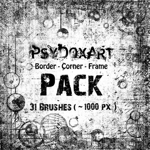 Border, Corner, Frame Brush Pack
