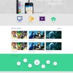 Free Clean Minimal Website Template PSD