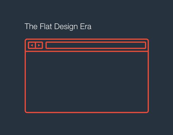 the flat design era