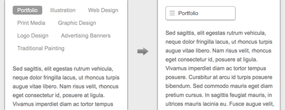 the purpose of responsive menu