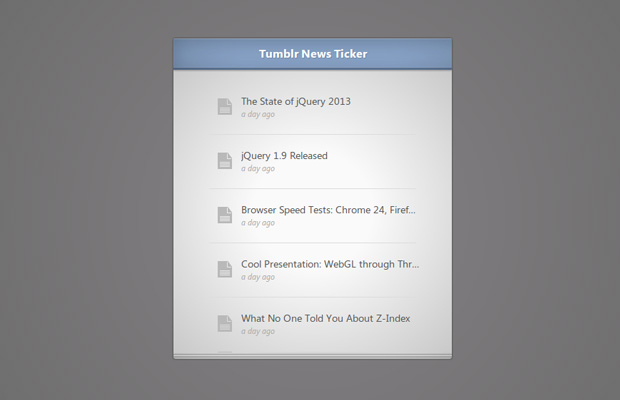Tumblr News Ticker