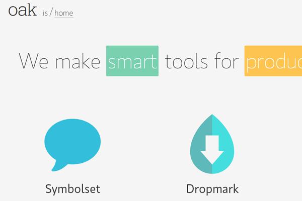 oakis website layout startup design