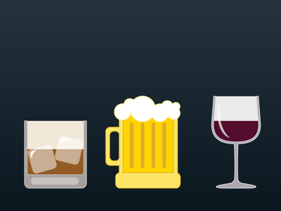 alcohol illustrations wine beer liquor