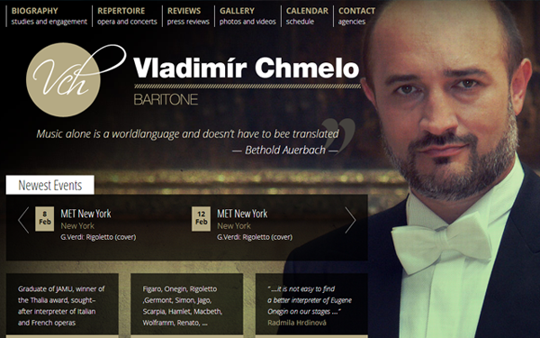 composer artist musician website layout design