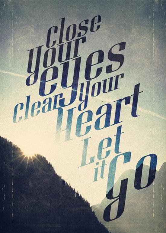 let it go flyer design