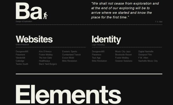 1. black based web design