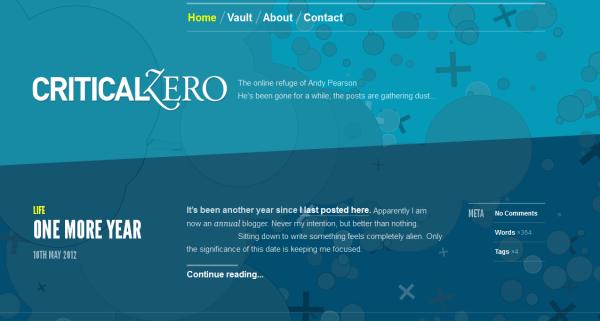 1. blue based web design
