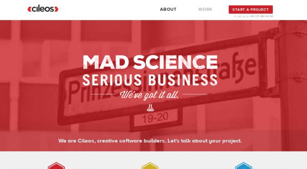 1. red based websites