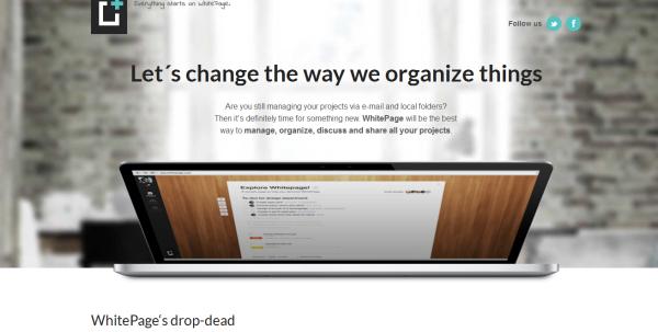 1. white based web design