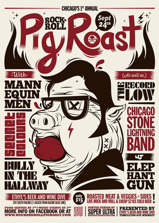 pig roast flyer design