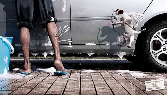 13. dog advertising