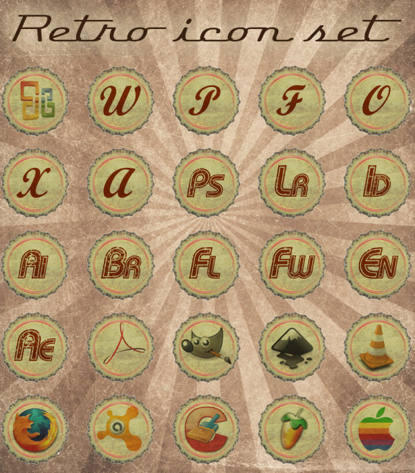 13. retro icons