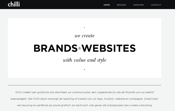 web2.0 branding interface white black layout