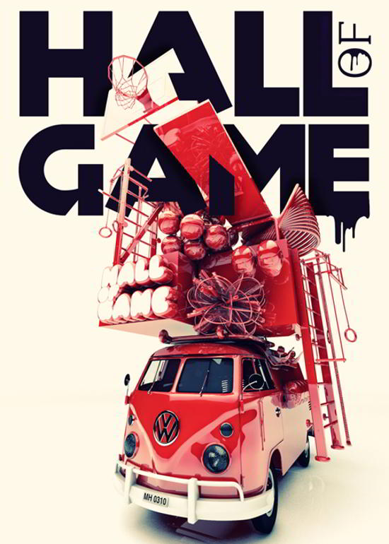 hall of game flyer design