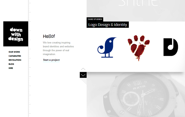 portfolio icons illustration website layout