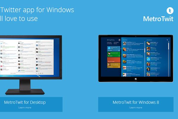 metrotwit desktop software webapp website