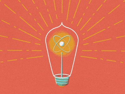 bright lightbulb illustration design graphics