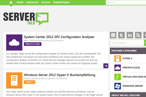 server talk flat website forum interface