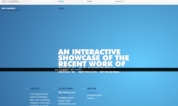 2. blue based web design