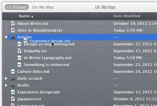 instantShift - IA Writer