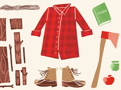 lumberjack illustration clothes axe designs