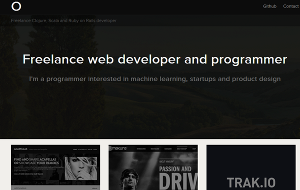 freelance designer website portfolio interface