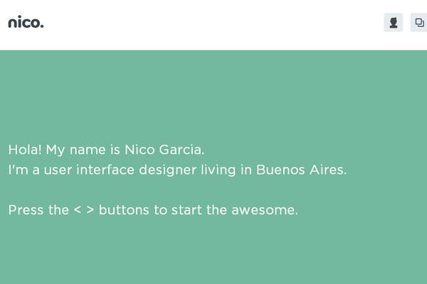 nico garcia user interface designer portfolio