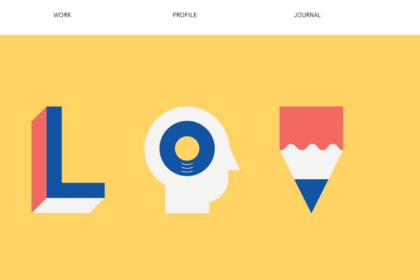 Lorenzo Verzini websiute flat interface designs