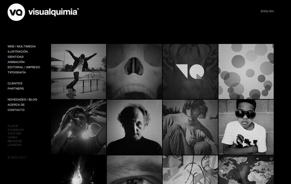 colorless black white portfolio website inspiration