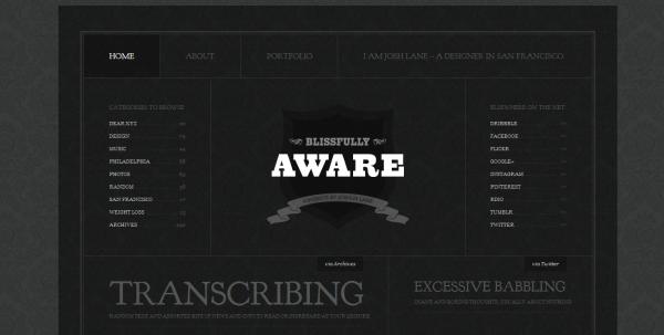 3. black based web design