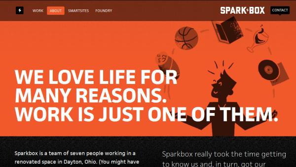3. orange based web design