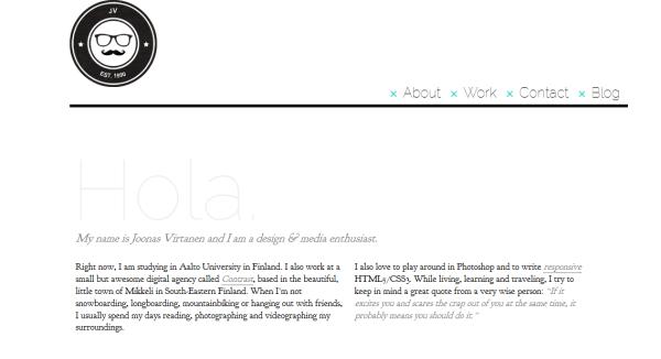 3. white based web design