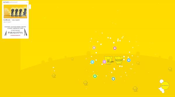 3. yellow based web design