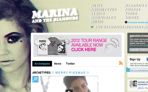 marina the diamonds inspiration music layout