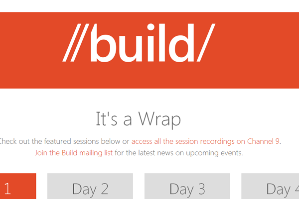 build windows conference 2012 website