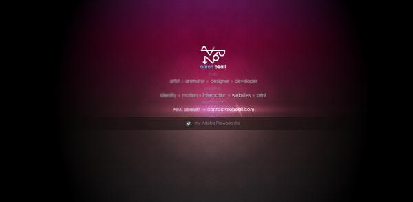4. black based web design