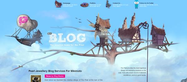 4. blue based web design