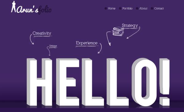 4. purple based web design