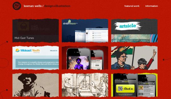 4. red based websites