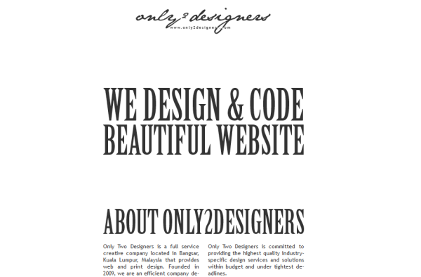 4. white based web design
